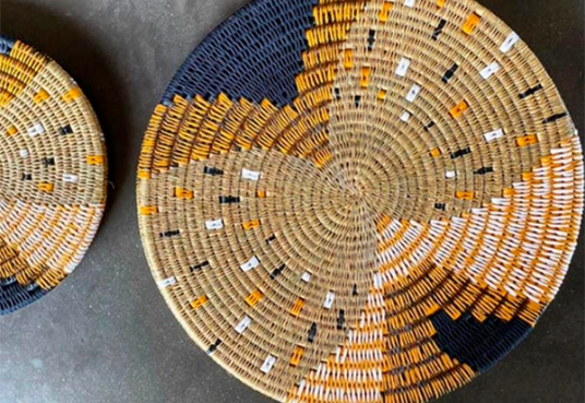 Beautiful handcrafted table mat in a natural design